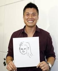 BENIの似顔絵を持つ川島永嗣